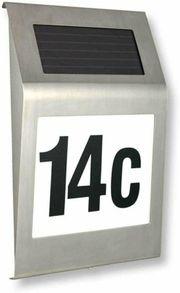 LED Solarhausnummer edelstahl Solar Hausnummernleuchte