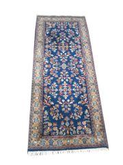 echter Perser Teppich Läufer blau