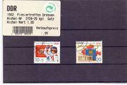 2 DDR-Briefmarken Pioniertreffen Dresden 1982