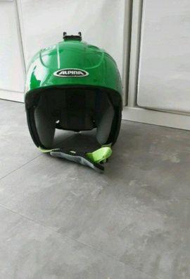 Wintersport Alpin - Ski Helm Alpina grün Jungen
