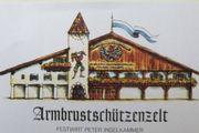 Armbrustschützenzelt 8 Personen Oktoberfest Wiesn