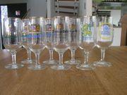 8 Pils Bier Glas Löwenbräu