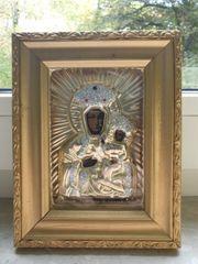 Bild schwarze Madonna mit Jesuskind