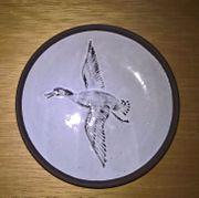 Wandteller Ente im Flug
