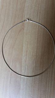 Halsreif Omegareif Silber vergoldet flexibel