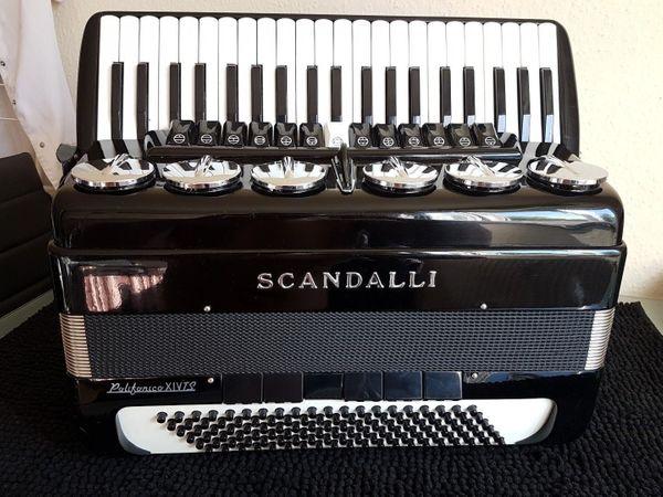Akkordeon Accordion Scandalli Polifonico XIVTS, 120 Bass, 4 chörig, XIV TS