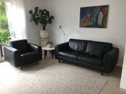 Sitzgarnitur Sofa Couch Leder Ledersofa