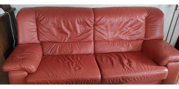 Couch Garnitur Leder