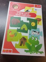 Puzzle Tiere und ihre Häuser