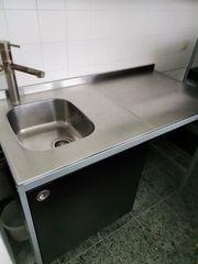 Küche Edelstahl Arbeitsplatte Ikea Udden