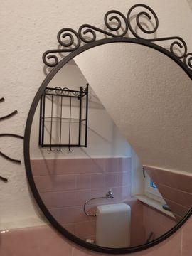 Bild 4 - Bad-Set schwarz Metall Spiegel Wandboard - Lauf