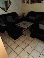 Leder Couch Garnitur
