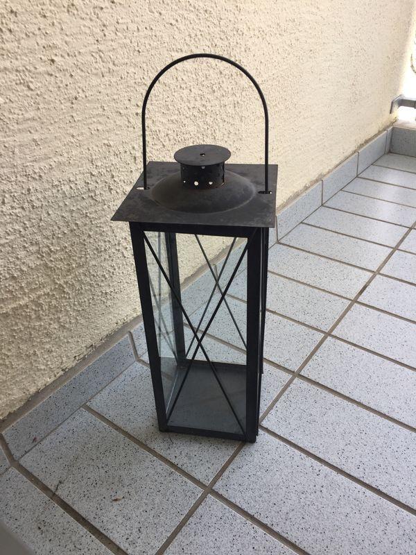 Laterne Windlicht Metall Glas ca