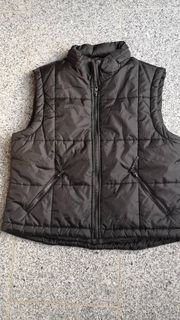 Weste Jacke ohne Ärmel schwarz