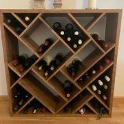 2x Wein Regal ZEUS massiv