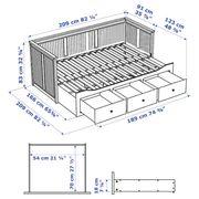 IKEA Hemnes Schlafsofa Tagesbett weiss