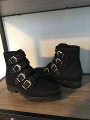 Chunky Boots Schwarz Gr 40