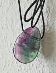 Fluorit Heilstein Amulett