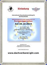 Europasiegerschau am 20 10 2019