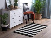 Outdoor Teppich schwarz-weiß 80 x