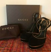 Gucci Damen Pumps schwarz gold