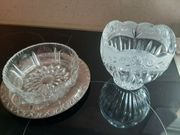 2 Glasschälchen aus Bleikristall