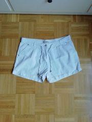 42 XL Weiß Leinenhose Shorts