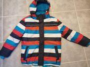 Winterjacke Tom Tailor blau weiß