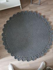 handgearbeiteter Teppich aus Baumwollschnur