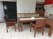 SET Gartentisch Holztisch rechteckig ausfahrbar