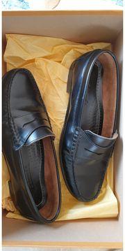 schwarze Edwards Slippers Mokkasins Größe