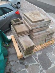 Verschiedene Betonplatten