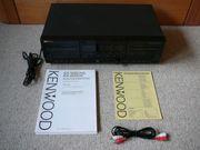 Verschenke Stereo-Kassettendeck Kenwood KX-W4070 Cinch-Kabel