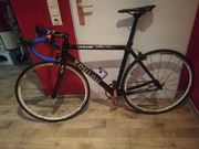 Single speed carbon Rennrad