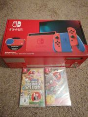 Nintendo switch mario red blue