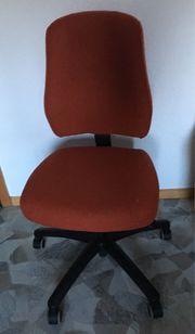 Bürostuhl rot schwarz
