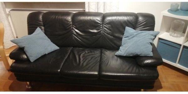 3-Sitzer Couch Echtleder