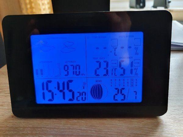 Wetterstation OHNE Sensor für Außentemperatur
