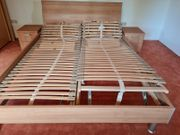 Doppelbett inkl verstellbarer Lattenroste 220