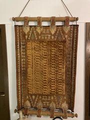 Afrikanischer Wandteppich mit Aufhängung ca