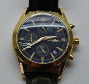 Tardima Chronograph gold schwarz NEU