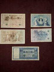 Banknoten Deutsches Reich