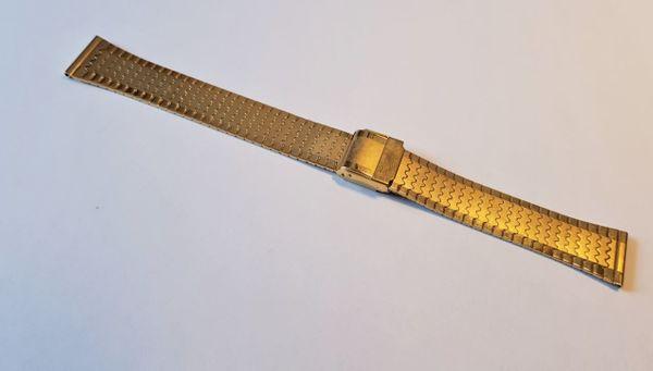 Uhrarmband Edelstahl Vergoldet Metallband NEU