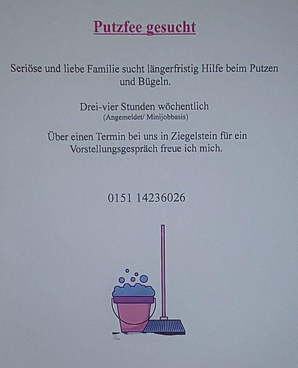 Putzfee Haushaltshilfe Nürnberg Ziegelstein