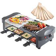 Raclette mit Naturstein und Grillplatte -