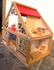 Holz-Puppenhaus Inkl Zubehör