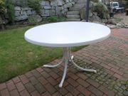Garten-Klapptisch sehr groß weiß rund