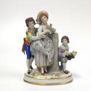 16cm alte Porzellanfigur Spielende Kinder