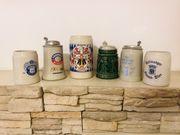 Bierkrüge Keramik 6 Stück