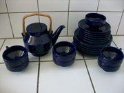 Teeservice blau 6 Personen